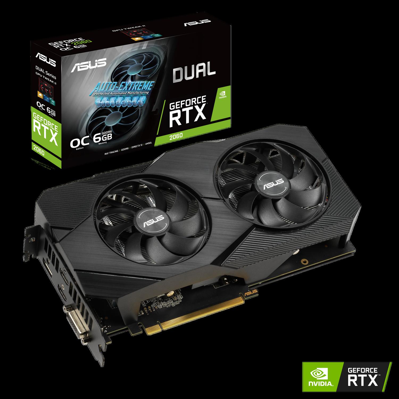 ASUS Dual Nvidia GeForce RTX 2060 6GB EVO OC Edition Gaming Grafikkarte