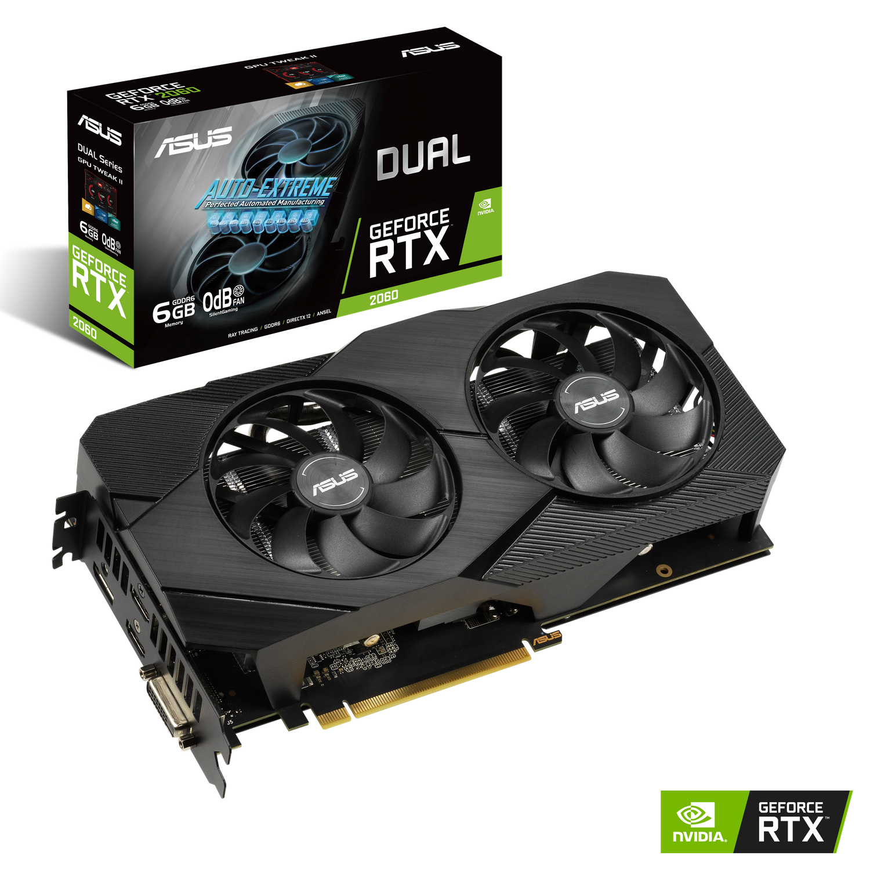 ASUS Dual Nvidia GeForce RTX 2060 6GB EVO Gaming Grafikkarte