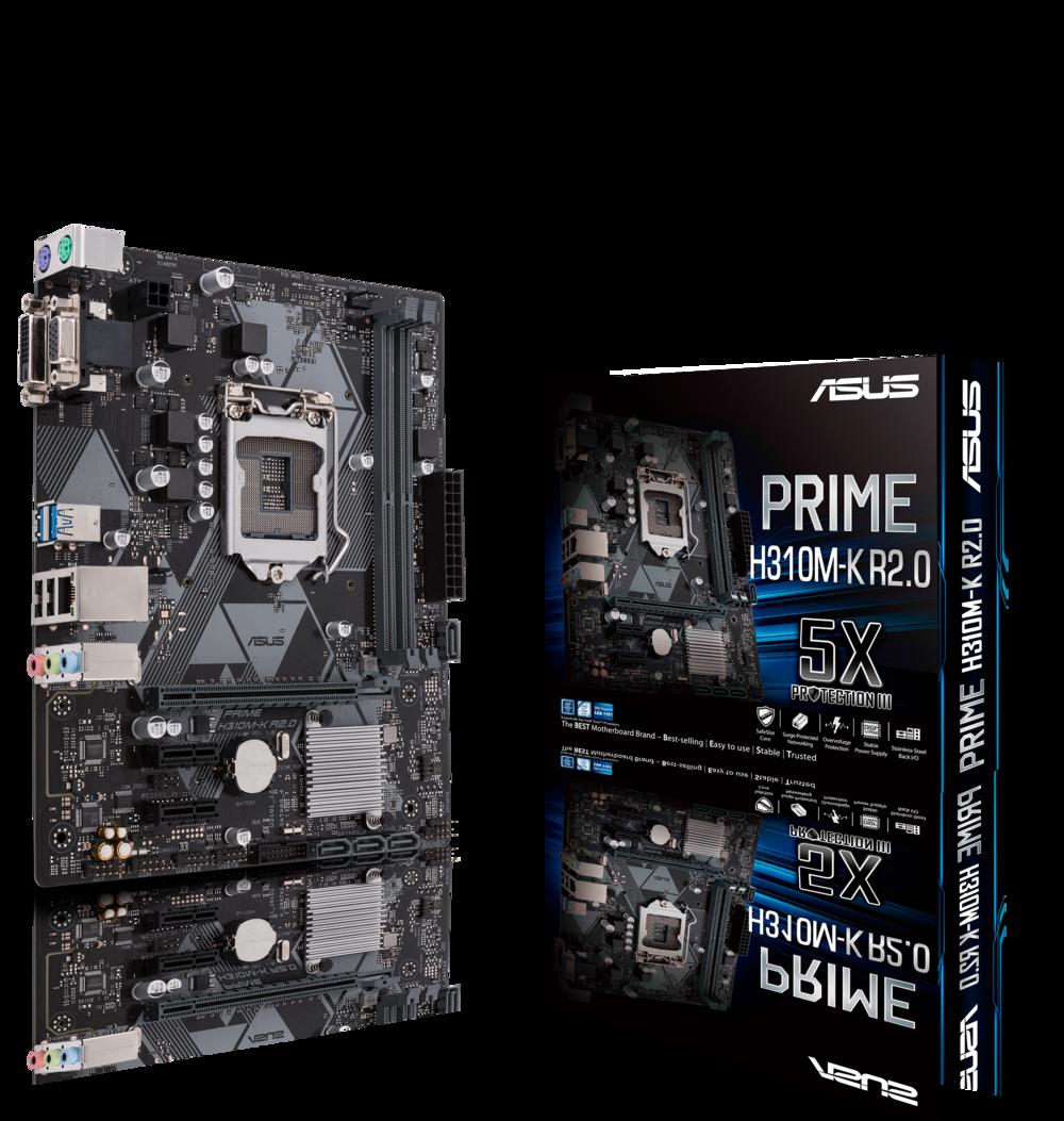 ASUS Prime H310M-K R2.0 Intel H310 Micro ATX DDR4 Motherboard
