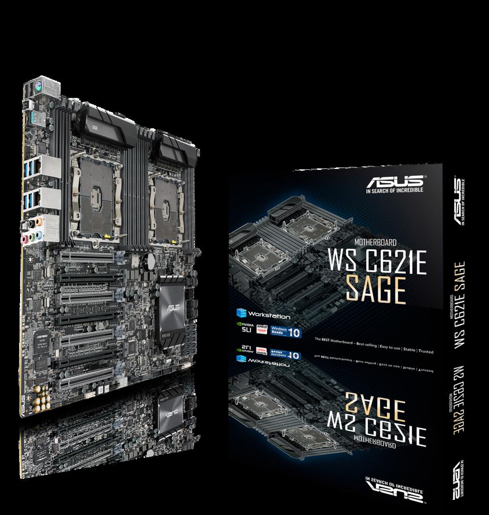 ASUS WS C621E SAGE Workstation Mainboard Dual Sockel 3647