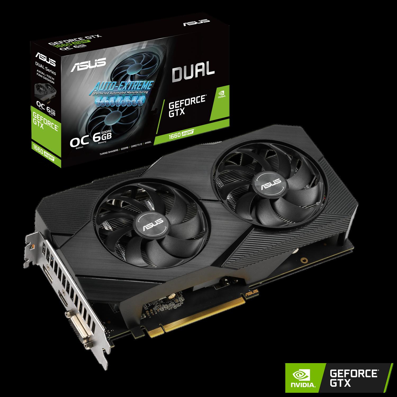 ASUS NVIDIA GeForce GTX 1660 Super Dual OC 6G Gaming Grafikkarte