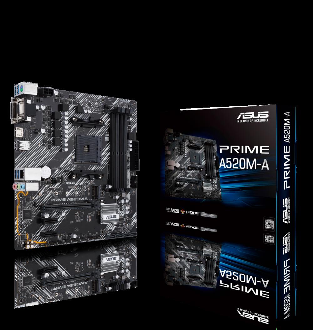 ASUS Prime A520M-A Mainboard Sockel AM4