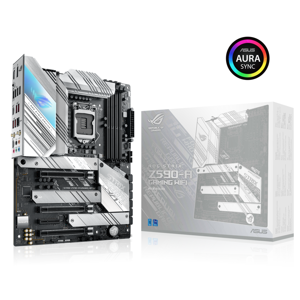 ASUS ROG Strix Z590-A Gaming WiFi Mainboard Sockel Intel LGA 1200