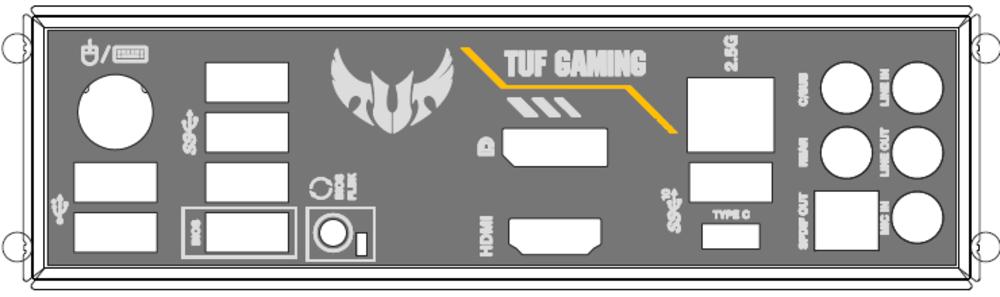 ASUS ATX Blende I/O Shield für Mainboard TUF GAMING B550M-PLUS